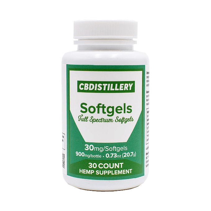 CBDistillery Full Spectrum CBD Softgels Product Review