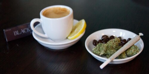 coffee and cannabis in the morning