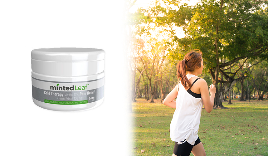 cbd for athletes mintedleaf cream